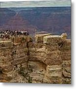 A Crowd And A Canyon Metal Print