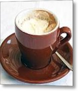 A Cup Of Caffe Metal Print