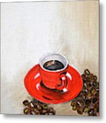 A Cup Of Coffee Metal Print