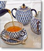 A Cup Of Tea Metal Print by Louise Heusinkveld