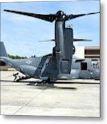 A Cv-22b Osprey On The Ramp At Hurlburt Metal Print