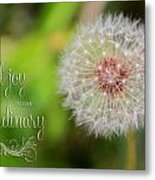 A Dandy Dandelion With Message Metal Print