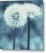 A Dandy In Blue Metal Print