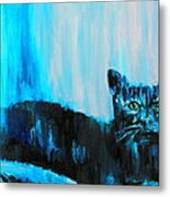 A Dark Ambiguous Presence Questioned All Metal Print