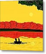 A Date At Sunset Metal Print