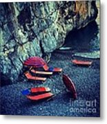 A Day At The Beach Metal Print by H Hoffman