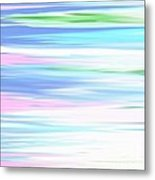 A Day At The Beach Pastels Metal Print
