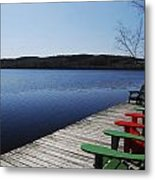 A Day At The Cottage Metal Print