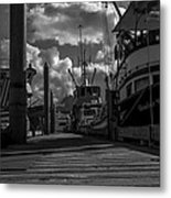 A Day At The Dock Metal Print