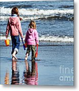 A Day At The Seaside  Metal Print