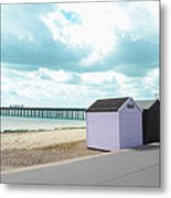 A Day By The Beach Metal Print