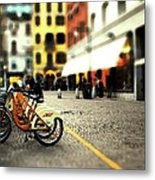A Day In The City Metal Print