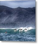 A Day In The Surf V3 Metal Print