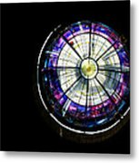 A Dazzling Stained Glass Gem Emerging From The Darkness Metal Print