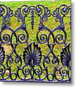 A Decorative Iron Seat Metal Print