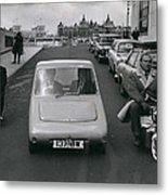 A Demonstration Of Electric Vehicle In London Metal Print