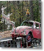 A Difference Sleigh  Metal Print