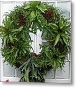 A Different Christmas Wreath Metal Print