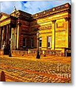 A Digitally Converted Painting Of The Walker Art Gallery In Liverpool Uk Metal Print