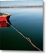 A Dinghy On A Calm Sea, Port Clinton Metal Print