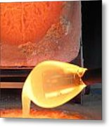 A Dip Into Clear Glass Metal Print
