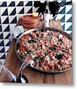 A Dish Of Paella Metal Print