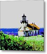 A Distant Light House Metal Print