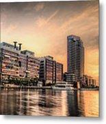 A Docklands Sunset Metal Print