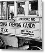 A Dollar A Stick Roman Chewing Candy In Bw Metal Print
