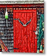 A Door In Maine Metal Print