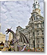 A Dragon In Philly Metal Print