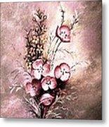 A Dusty Rose Bouquet Metal Print