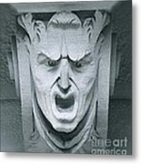 A Face In A Facade Metal Print
