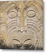 A Face In The Rock Metal Print