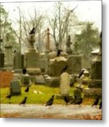 A Fall Gathering Of Crows Metal Print