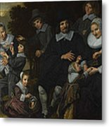 A Family Group In A Landscape Metal Print