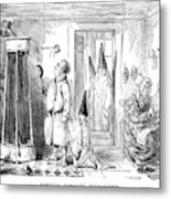 A Family Prepare To Partake Of  A Shower Metal Print