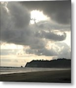 A Figure Strolls Along The Beach, Playa Metal Print