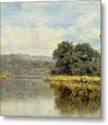 A Fine Day On The Thames Metal Print