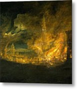 A Fire In The City Metal Print