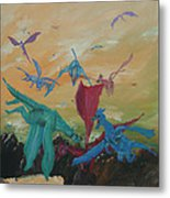 A Flight Of Dragons Metal Print