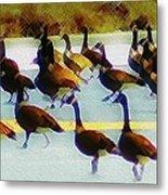 A Flock Of Geese Metal Print