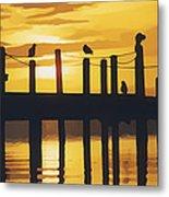 A Flock Of Seagulls Metal Print
