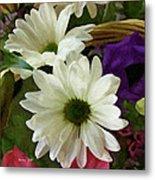 A Flower Basket Metal Print