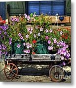 A Flower Wagon Metal Print