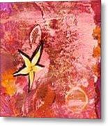 A Flying Star Flower Metal Print