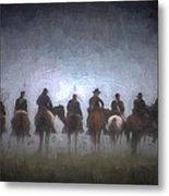 A Foggy Gettysburg Morning - Oil Metal Print