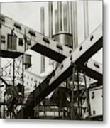 A Ford Automobile Factory Metal Print