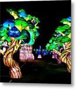 A Forest Of Lanterns Metal Print
