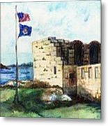 A Fort In Maine Metal Print